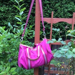 Fossil pink duffle gym bag. KeyPer